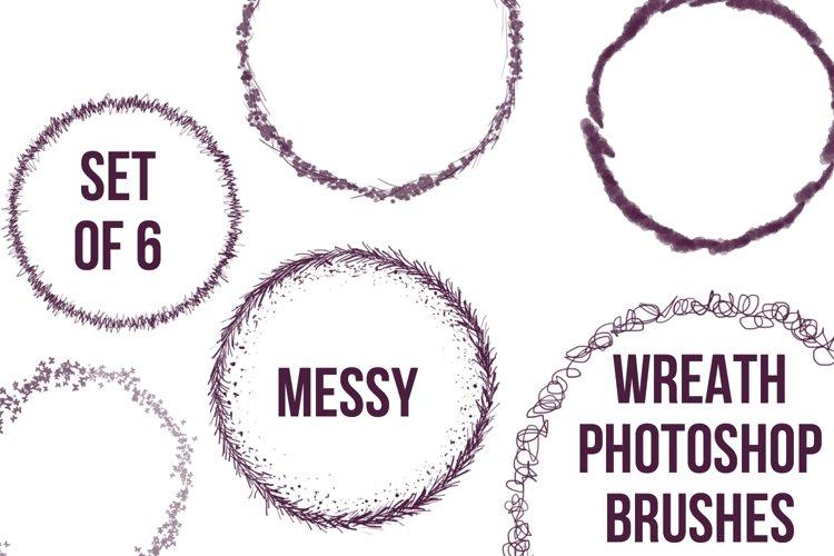 Set of 6 Wreath Photoshop Brushes