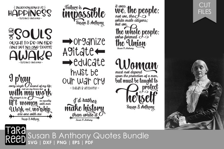 Susan B Anthony Quotes Bundle example image 1