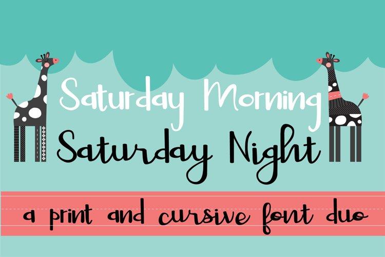 PN Saturday Font Duo example image 1