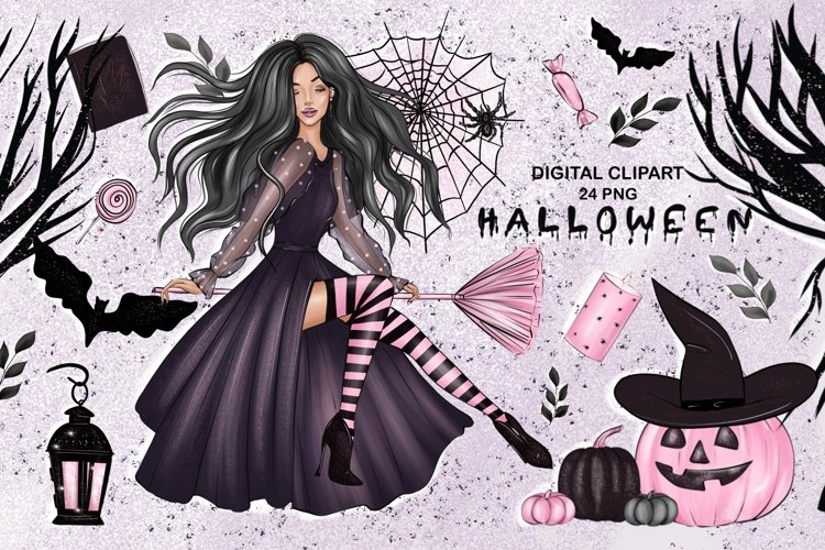 Halloween Characters Clipart, Halloween PNG File example image 1