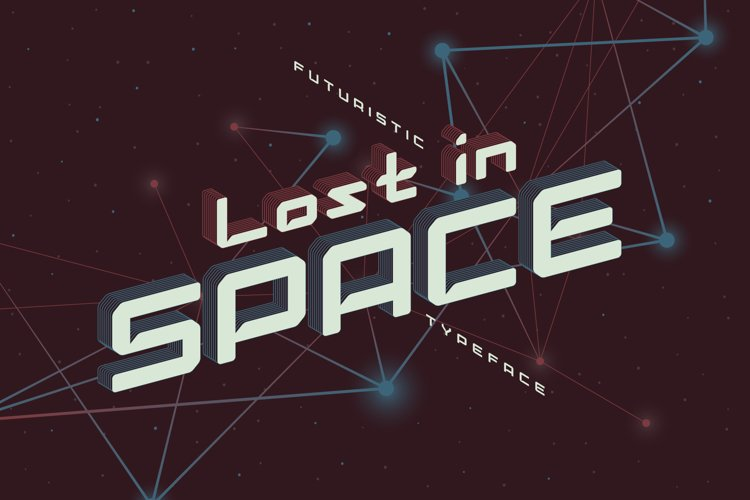 Lost in space. Futuristic typeface example image 1