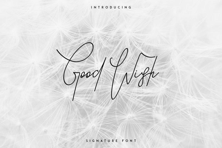 Good Wish Signature font example image 1