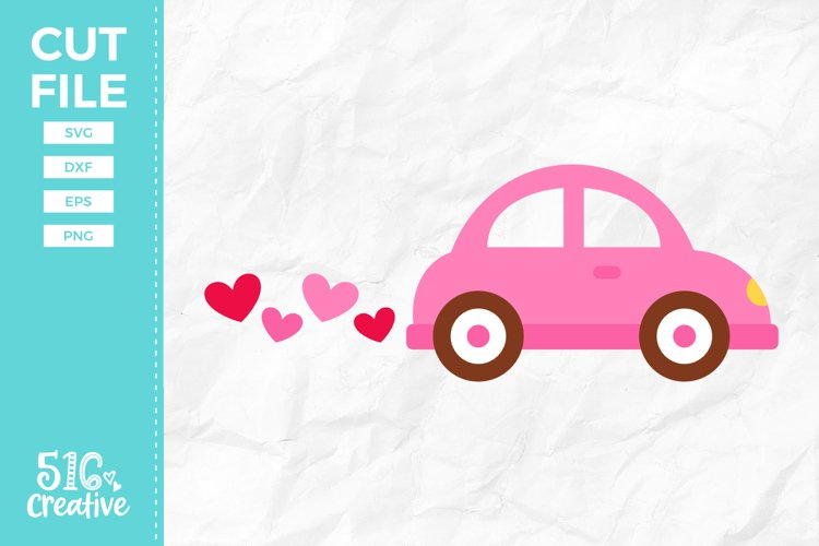 Heart Car SVG DXF EPS PNG example image 1