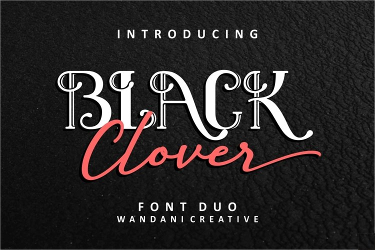 Black Clover Font Duo example image 1