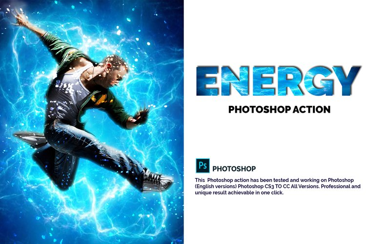 Energy Photoshop Action example image 1