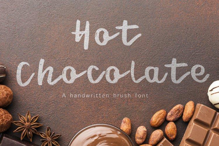 Hot Chocolate -Handwritten Brush font example image 1