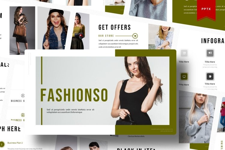 Fashionso | Powerpoint Template example image 1