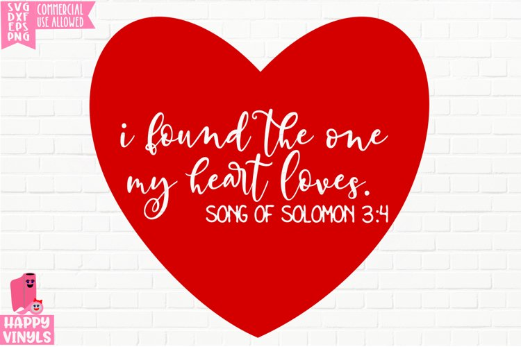 I Found The One Song of Solomon - A Religious Valentine SVG