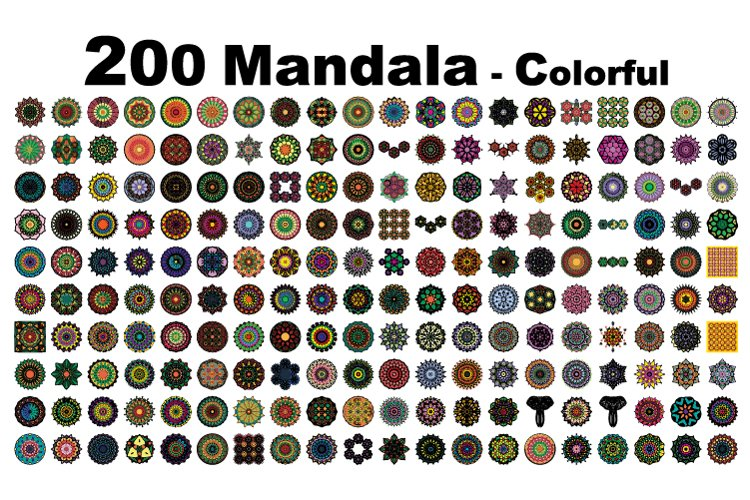 200 mandalas with various variations example image 1