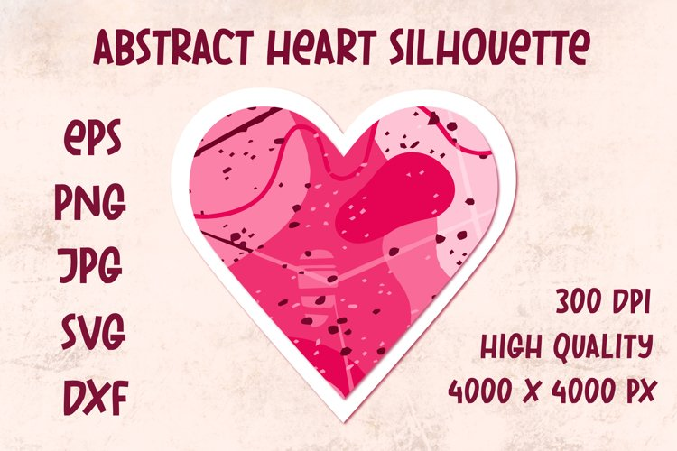 Pink abstract heart. Symbol of love. Valentine's day SVG example image 1
