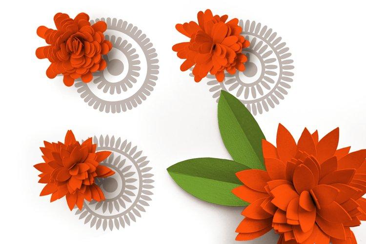 Rolled Paper Flowers SVG Design - Long Petal Shapes