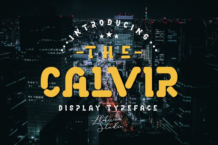 The Calvir | Display Font