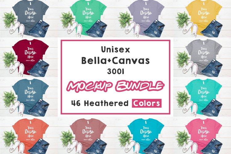 Bella Canvas 3001 T Shirt Mockup Bundle