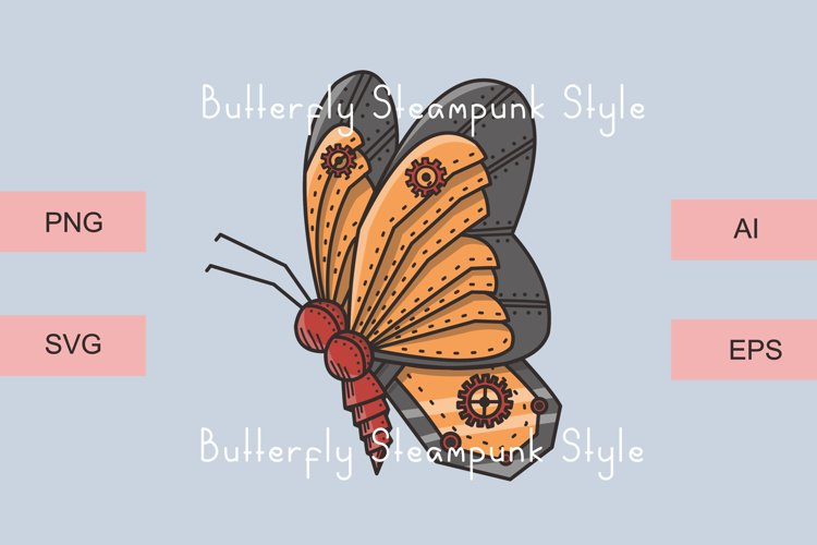 Butterfly Steampunk Style Vector example 4