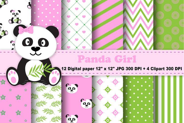 Panda Digital Paper, panda Boy Background, Animals. example image 1