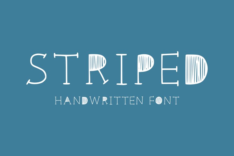 Striped handwritten font example image 1
