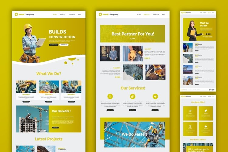 Construction | Web Template example image 1
