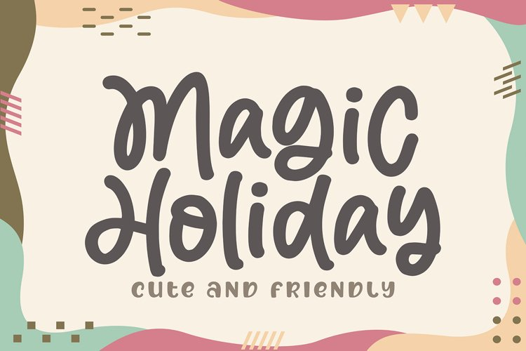 Magic Holiday - Monoline Cute Font example image 1