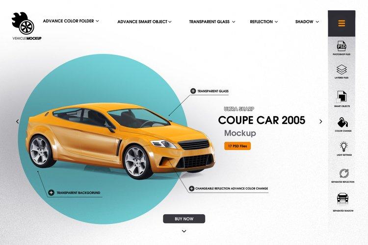 Coupe car 2005 mockup