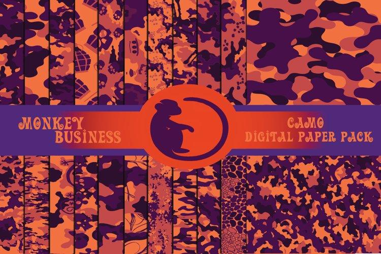 Purple and orange digital paper pack