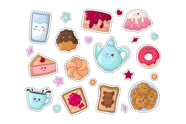 Kawaii Sweets - stickers example image 1