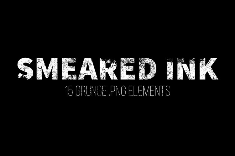Smeared Ink - 15 Grunge Png Elements example image 1