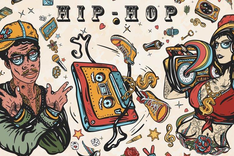 Hip hop old school tattoo example image 1