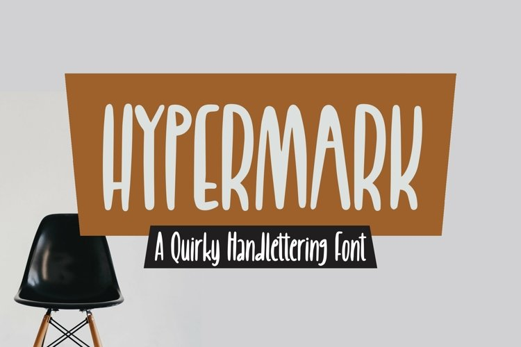 Web Font Hypermark - quirky Handlettering Font example image 1