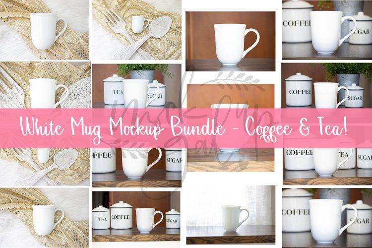 White Mug Mockup Bundle - Coffee & Tea - 21 Different Images
