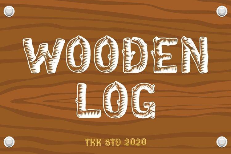 Wooden Log - Kids Font example image 1