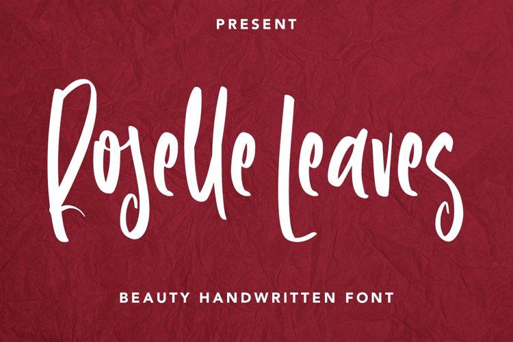 Roselle Leaves - Handwritten Font example image 1