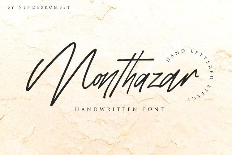 Monthazar - Handwritten font example image 1