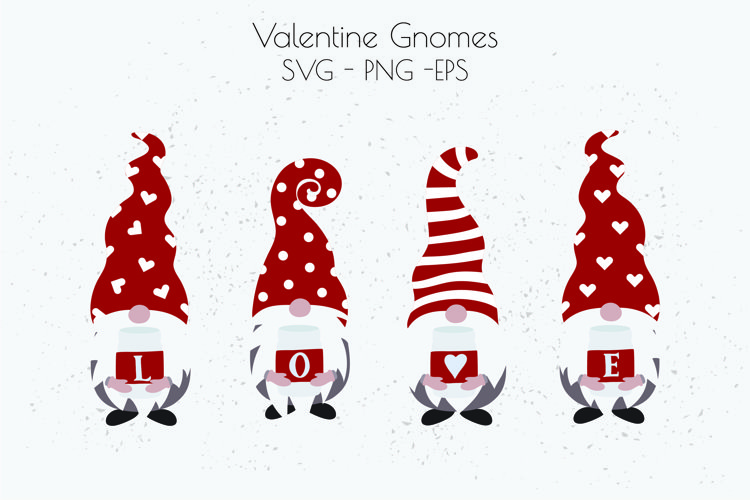 Valentine's Day SVG, Valentine Gnome SVG, Love SVG example image 1
