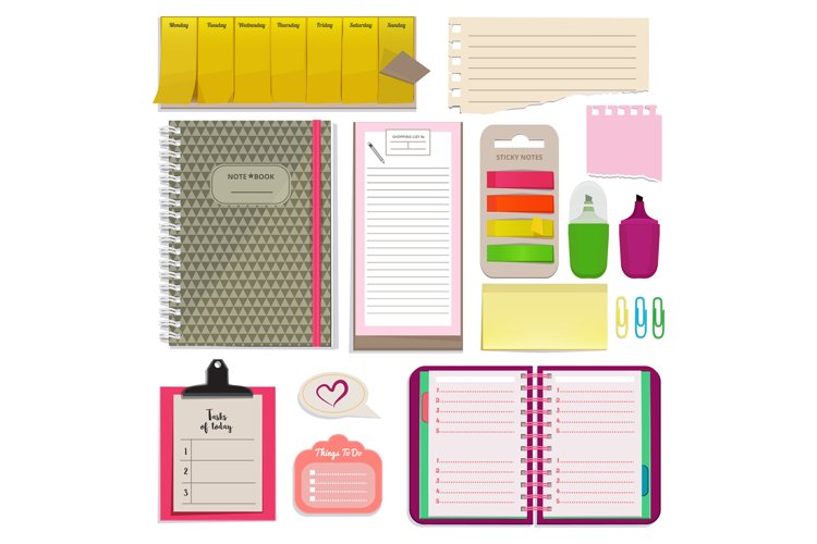 Different notebooks, notes, daily agendas and papers for org example image 1