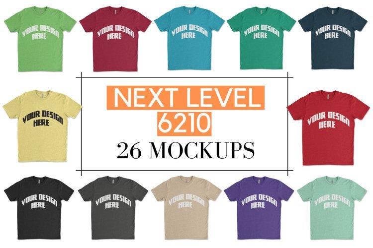 Next Level 6210 Flat T shirt Mock-up Bundle - 26|PNG