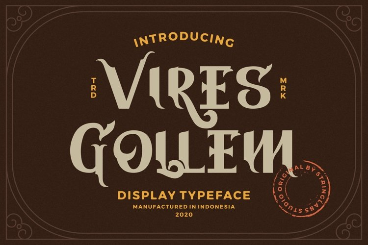 Vires Gollem - Display Font example image 1
