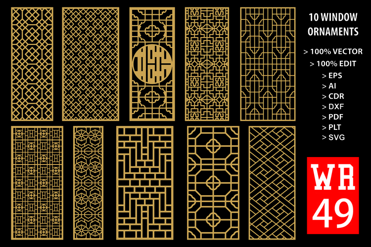 WR 49, Carved Window Ornaments Laser Cutting example image 1