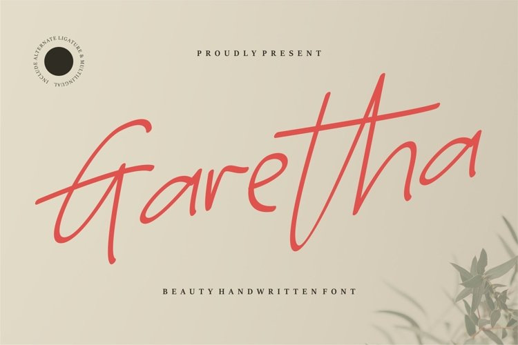 Garetha - Beauty Handwritten Font example image 1