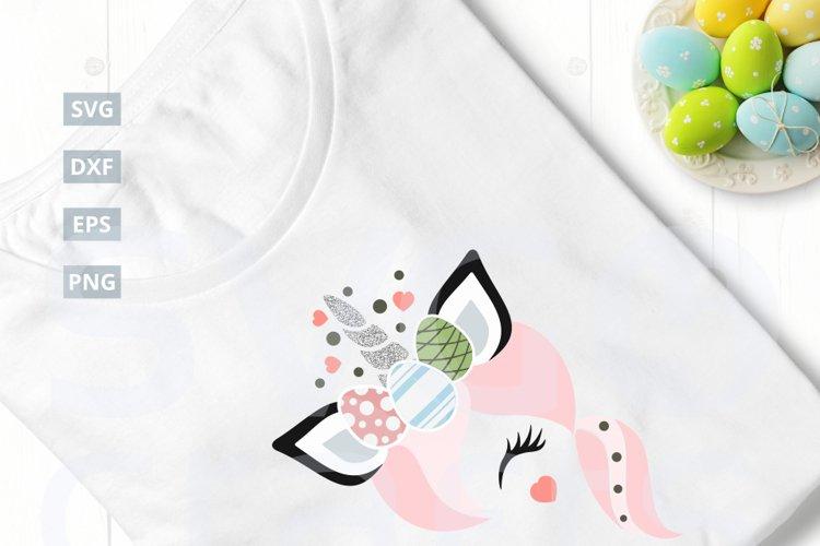 Easter Egg Unnicorn SVG Cut File|SVG |DXF |EPS |PNG