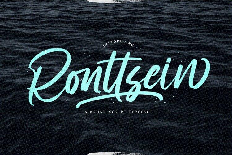 Ronttsein - Brush Script Font example image 1