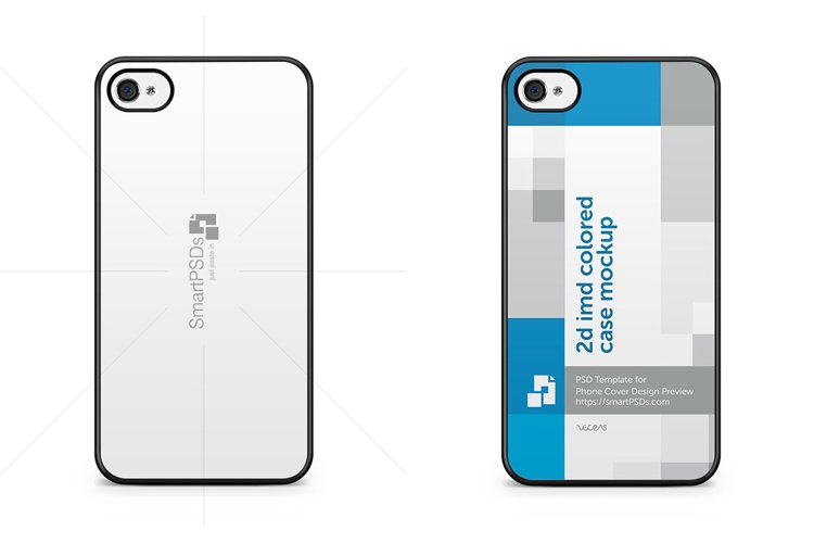 Apple iPhone 4-4s 2d IMD Mobile Case Design Mockup 2010-11 example image 1