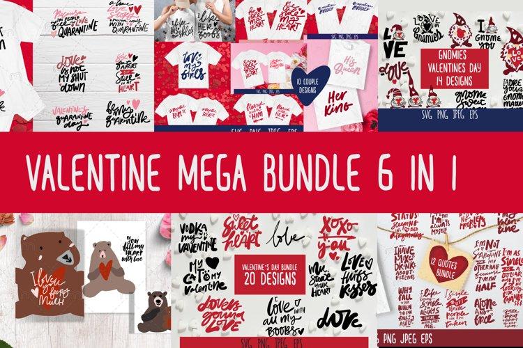 Valentines SVG bundle. Valentine mega bundle 6 in 1. example image 1