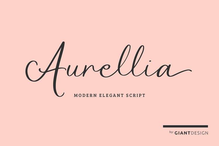 Aurellia Elegant Modern Script Font example image 1