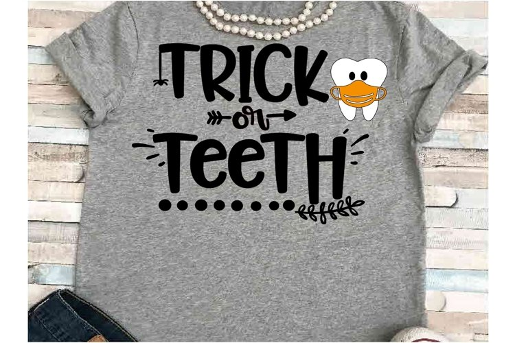 Dental SVG DXF JPEG Silhouette Cameo Cricut Halloween teeth example image 1