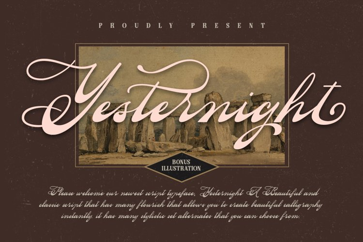 Yesternight - Classic Script example image 1
