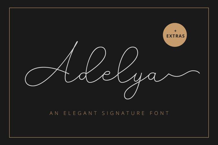 Adelya - Elegant Signature Font example image 1
