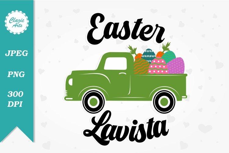 Easter Lavista, Easter Sublimation Designs, Easter Truck example image 1