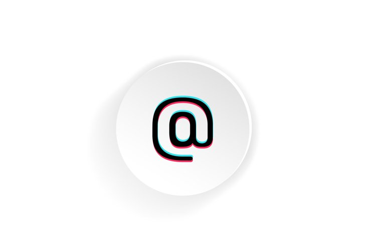 Email Icon Social Media Tik Tok Concept 859254 Icons Design Bundles