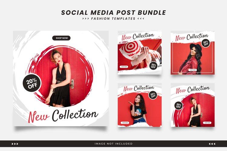 Social media templates for fashion