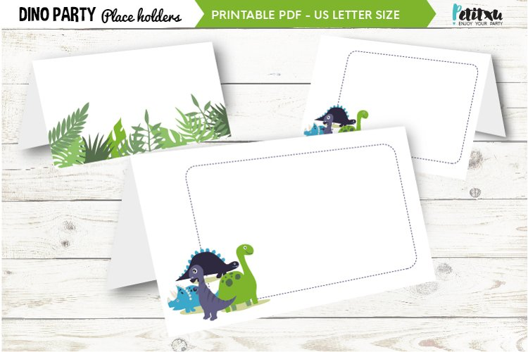 Dinosaur party food tent cards, birthday party decorations